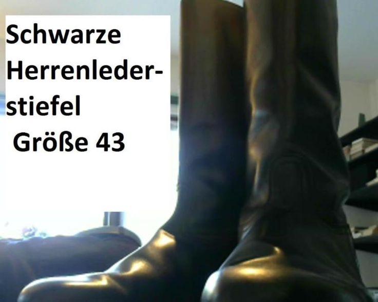 Schöne schwarze Herrenlederstiefel Größe 43, neuwertig, frisch besohlt, zu verkaufen.