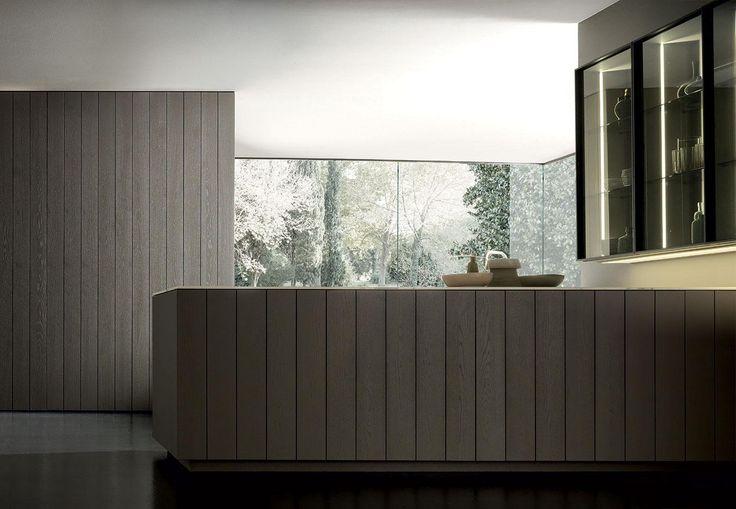 Soft colors for a comfy yet stylish #kitchentolive. Float  http://www.modulnova.com/project-float-28