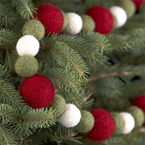 felt ball or pompom garland- would be easy to make. One color,