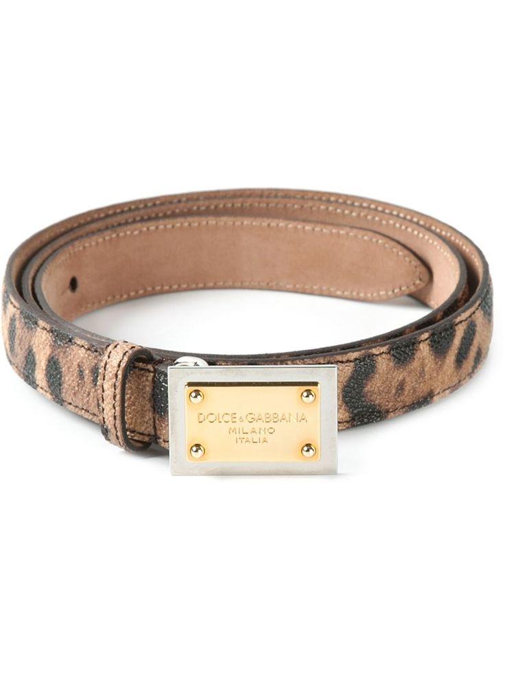 Dolce & Gabbana Ремень В Леопардовый Принт - Monti - Farfetch.com