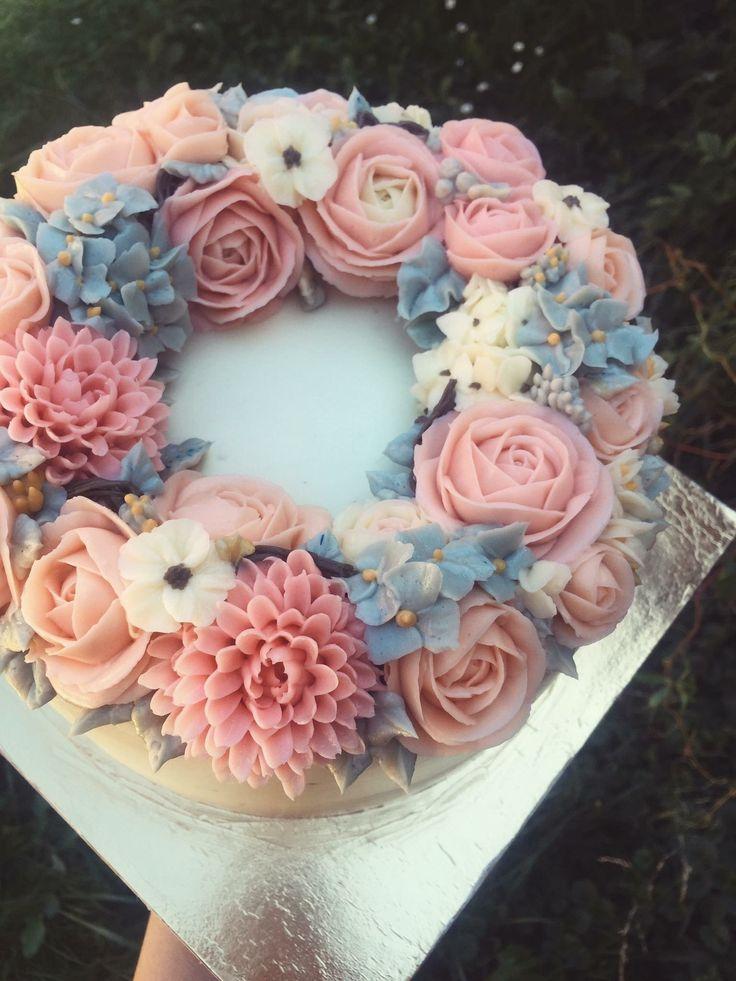 Pastel flores betun