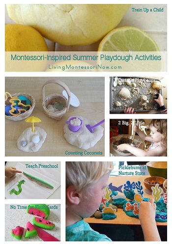 Montessori Monday  Montessori-Inspired Summer Playdough Activities