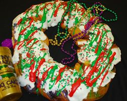 in NOLA - Breakfast for Christmas Eve?  Why yes!  From Manny Randazzo King Cakes of Metairie, LA