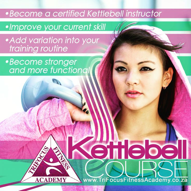 The Benefits of Kettlebell Training!   Just to name a few:  Cardio: Kettlebells can burn up to 20.2 calories per minute – that's 1 200 calories per hour – according to research.   Kettlebell training also positively impacts cardiorespiratory endurance, providing a metabolic challenge of sufficient intensity to increase VO2max, thereby assisting in lowering heart rate and blood pressure.   For more information: www.trifocusfitnessacademy.co.za
