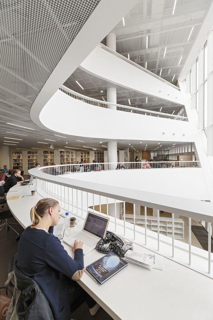 Helsinki University Main Library By Anttinen Oiva Architects