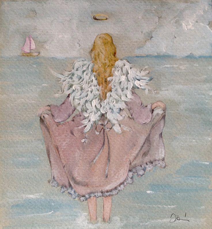 Angel by the sea original watercolor di ARTEDORI su Etsy https://www.etsy.com/it/listing/226402005/angel-by-the-sea-original-watercolor