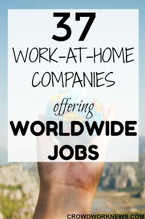 Finding global work-at-home jobs is hard. But it's not impossible. Here is a legitimate list of 37 companies which offer worldwide work-at-home jobs. Check them out and start applying. #workfromhome #online #jobs