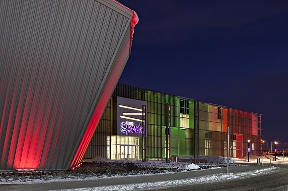 The TELUS Spark Science Center in Calgary, Alberta has insulated roof and wall panels from Kingspan.