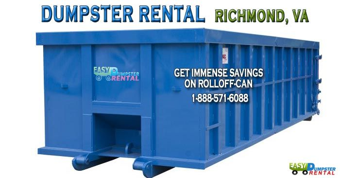 Richmond, VA at Easy Dumpster Rental Dumpster Rental in Richmond,Virginia Get Immense Savings On Rolloff-Can Click To Call 1-888-792-7833Click For Email Quote howWe Offer The Absolute BestRoll Off Dumpster Service In Richmond: Our reputation in the dumpster industry is so solid that thousands of customers continue to use our se... https://easydumpsterrental.com/virginia/dumpster-rental-richmond-va/