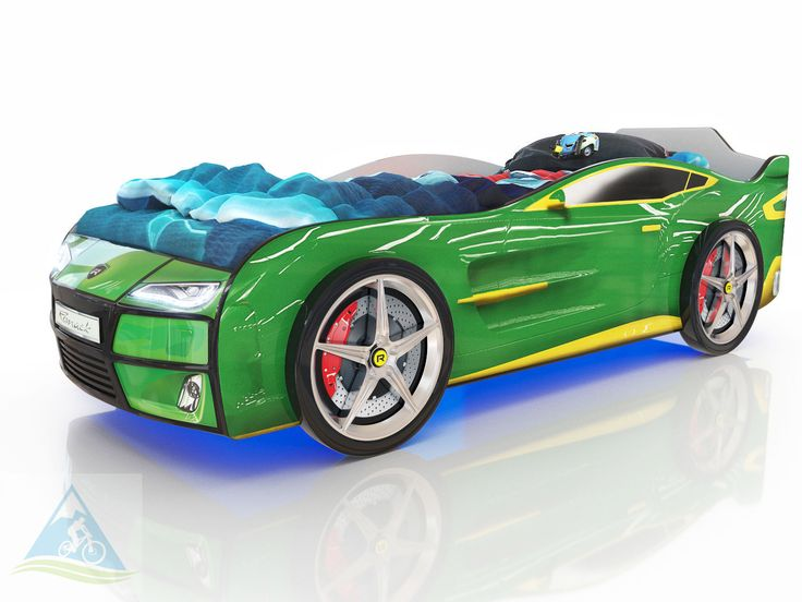 Кровать-машина Romack Kiddy зелёная