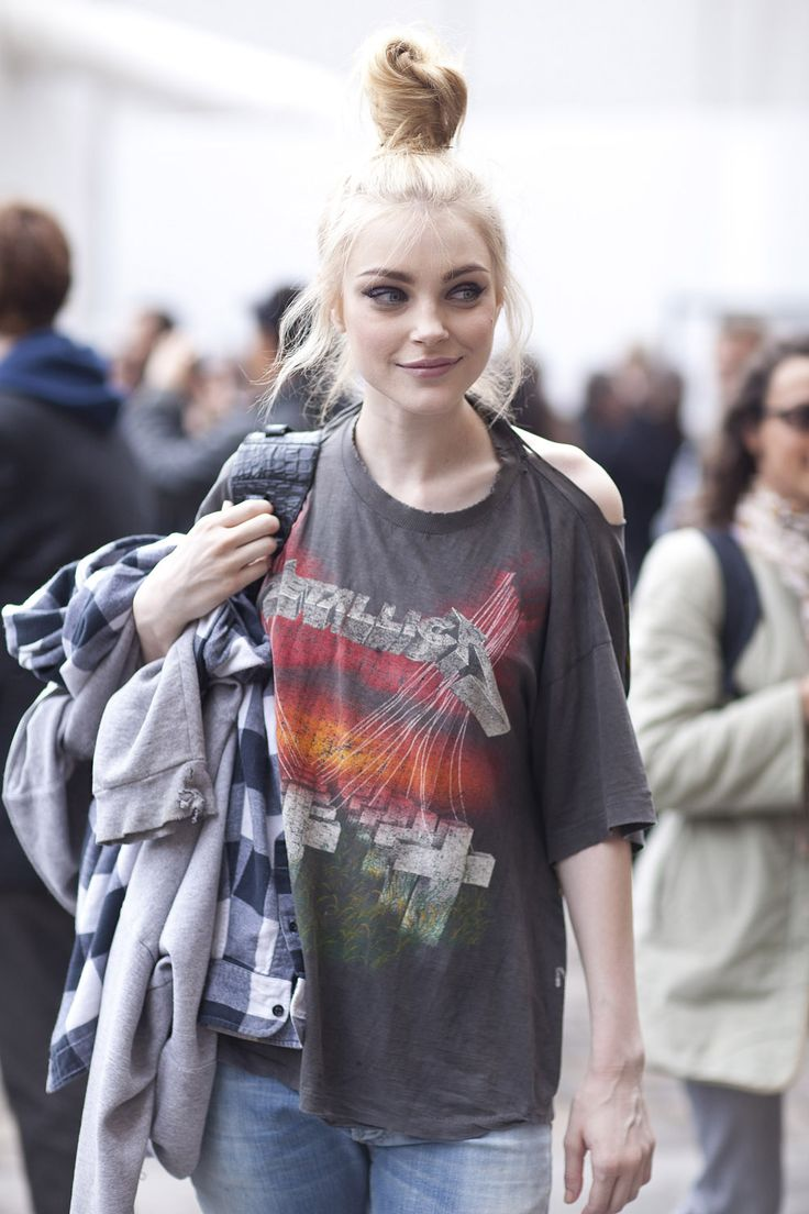Jessica Stam l I don't know her so I'm 70% sure she's only grunge at looks