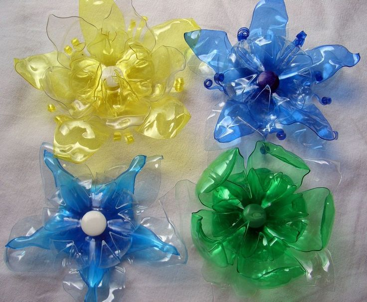 Recycled Plastic Bottle Flowers Recycle Crafts