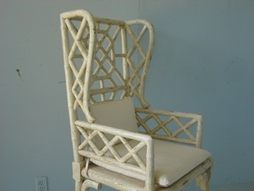 Oooh...la....la...so lovely. Lattice back wooden arm chair from Mecoxgardens.com.: Wooden Arm, Arm Chairs