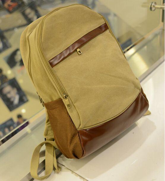 ETN BAG hot sale men canvas backpack student school bag male color block casual travel backpack man canvas bags travel bags