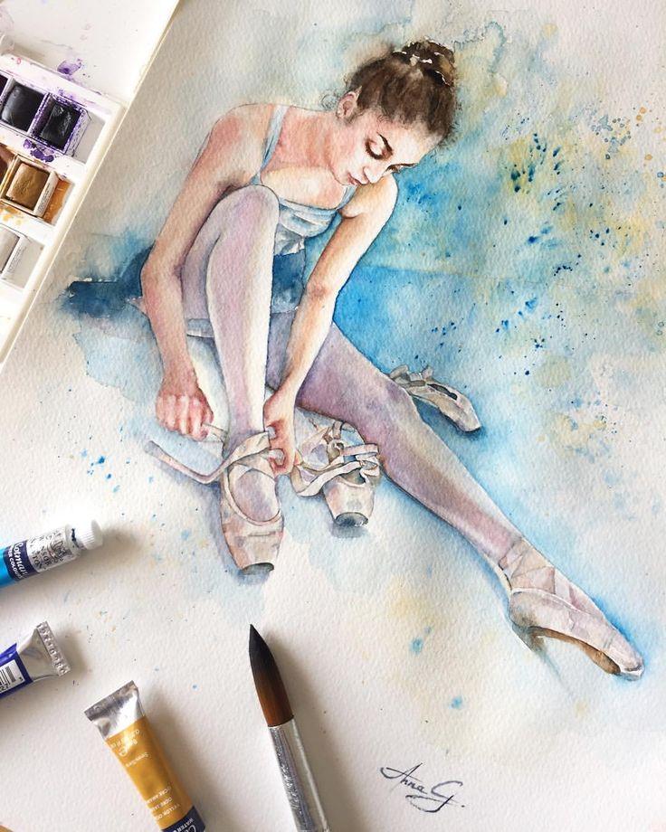 """""""Mi piace"""": 65, commenti: 5 - Anna G. (@anna_g_fashion) su Instagram: """"~ Lacing Up ~ ________________________________________________________#watercolor #anna_g…"""""""