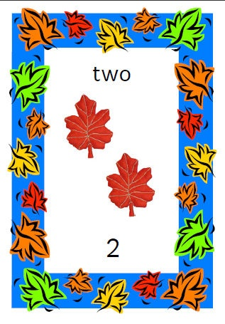 Cards to print and laminate with an Autumn theme. From 1-10, word, picture and number. Sassoon infant font