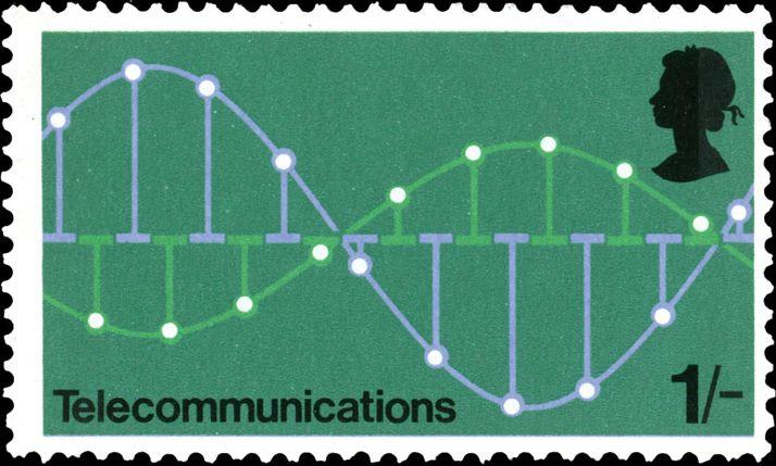 David Gentleman: pulse code modulation stamp, part of Post Office Technology series, 1969