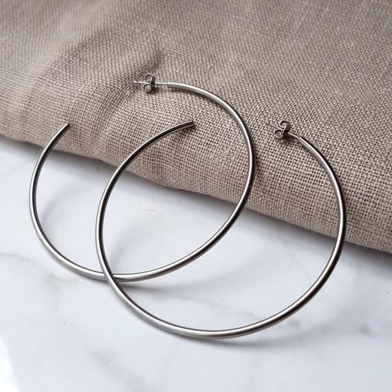 Anium Hoop Earrings Large 60mm Or