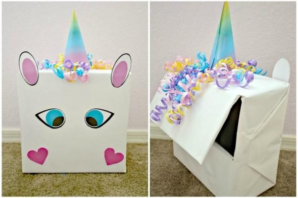 Valentine's Day DIY: Unicorn Valentine Box with FREE Printable
