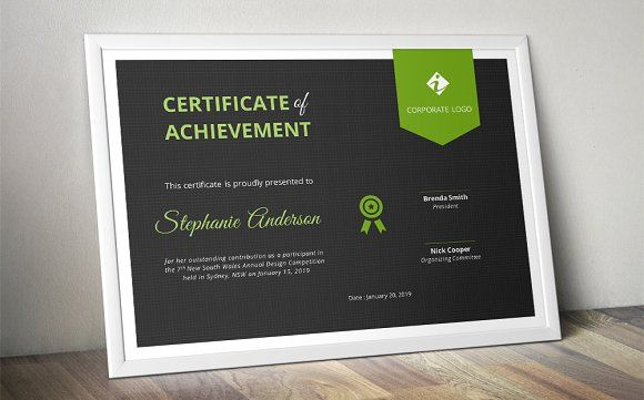 Dark ribbon Word certificate (docx) by Inkpower on @creativemarket