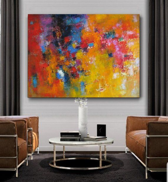 Extra Large Original Abstract Colorful Wall Art Oil On Canvas
