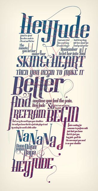 retro typo text music