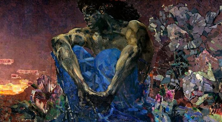 Seated+Demon,+1890+-+Mikhail+Vrubel