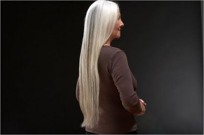 Older women with long hair are gorgeous :-)  I want to get mine- Long GRAY Hair!!!!!!!!