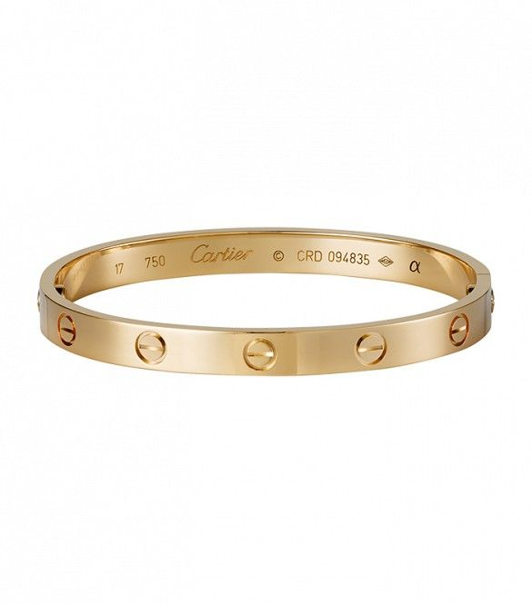 "Cartier Love Bracelet - want in gold (maybe just a good knockoff if Too expensive )     ""The Love bracelet is designed to be opened only using a special screwdriver that is supplied with every bracelet as a symbol for their commitment to their relationship."" <3  @kim7564"