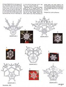 Misc motifs, snowflakes, etc - Снежинки; May 1, 2011 - lee ann hamm…