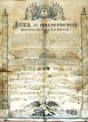 copia de la declaracion de independencia argentina - como no podia ser de otra manera, la original fue robada en 1816