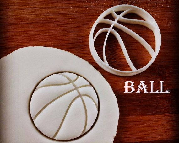 Basketball Cookie Cutter  cutters also suitable for by Made3D