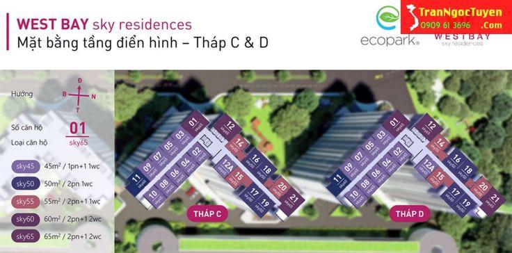 Mặt bằng căn hộ West Bay Ecoaprk – khu đô thị sinh thái ecopark  Hotline tư vấn West Bay Ecopark 0909.61.3696 gặp Ngọc Tuyền