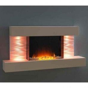 Flamerite Luma 1200 Wall Mounted Electric Fire Suite