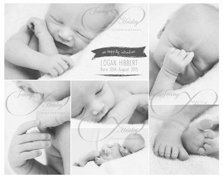 Copyright Jenny Healey Photography. Studio photography. Newborn. Collage.