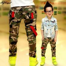 Novo 2016 Outono Meninos Adolescentes de Jeans Para O Menino Do Bebê Camuflagem Elástico Na Cintura das Calças Jeans Crianças Jean Crianças Denim Longo Pant(China (Mainland))