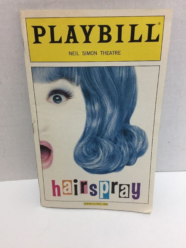 Hairspray Playbill Carly Jibson Michael McKean Peter Scolari Broadway Musical