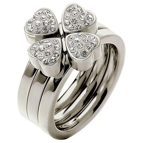 Buy Folli Follie Heart4Heart Triple Band Crystal Ring Online at johnlewis.com