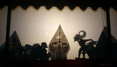This is the siluette from puppets and Gunungan (at the center of this siluette).