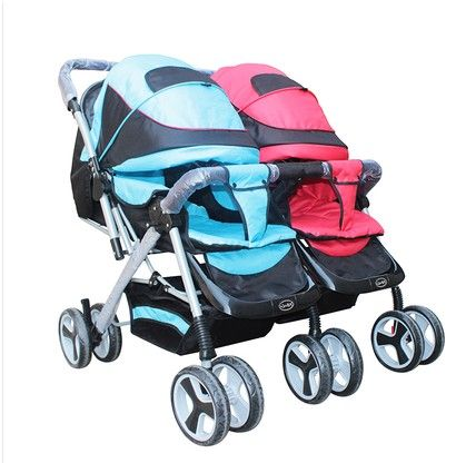 Bora twin stroller shock the whole folding double baby stroller buggiest - $158