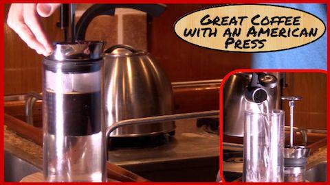 Coffee on Board the boat (American Press, JavaPresse Manual Grinder, AeroPress Coffee Maker)