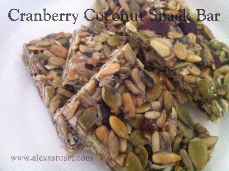 Easy Cranberry Coconut Snack Bar