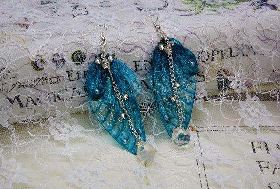 Ice Queen Winter Blue Fairy/Butterfly Wing by JustAsStrangeAsIAm
