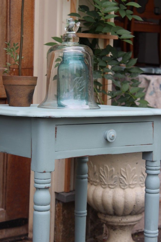Blue Paint With Brown Furniture
