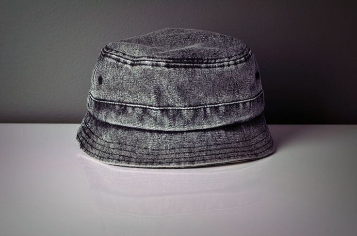 Heavy Enzyme Snow Wash Denim Bucket Hat