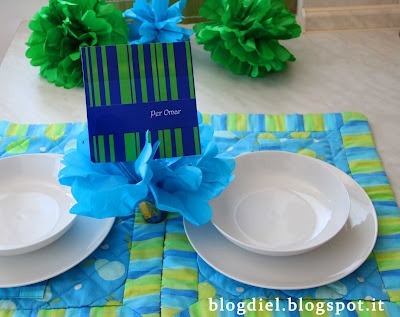 Green and blue stripes birthday lunch!