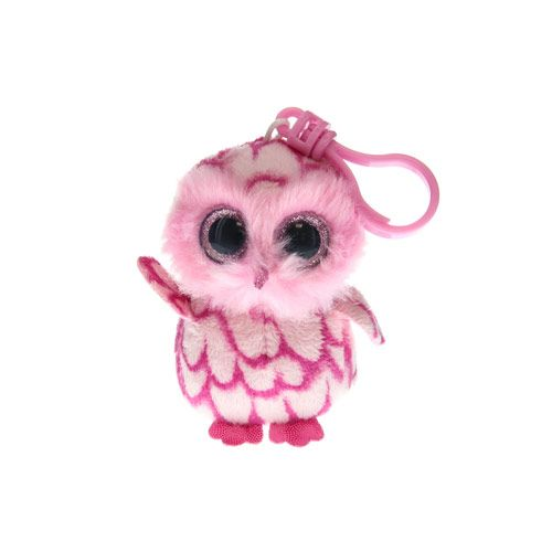 Small TY Beanie Pinky the Owl Keyring