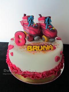 Doces Opções: Bolo com uns patins da Luna para o 8º aniversário ...