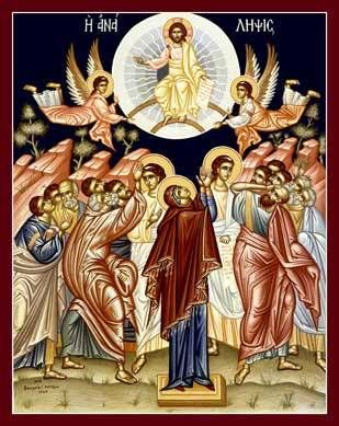 Ascension Day, a holiday which is this year on may 13th or the 40th day or easter which commemarates Jesus Christ into heaven
