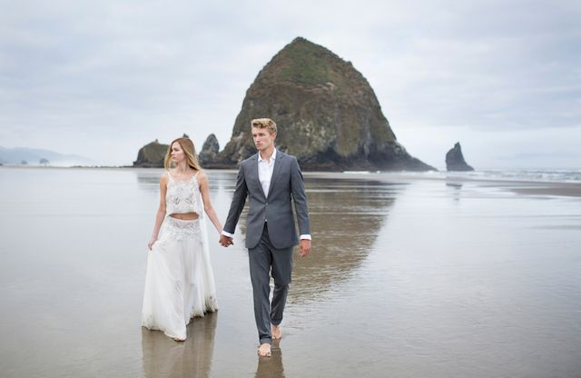 Moody Oregon Coast Bridals Cannon Beach Bridal Session And Weddings